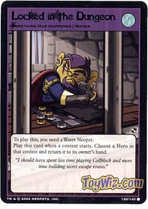 Neopets Trading Card Game Battle for Meridell Common Single Card #126 Locked in the Dungeon