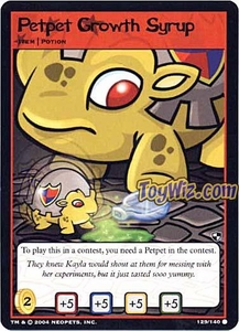 Neopets Trading Card Game Battle for Meridell Common Single Card #129 Petpet Growth Syrup