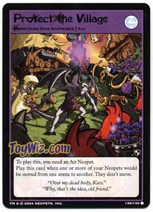Neopets Trading Card Game Battle for Meridell Common Single Card #130 Protect the Village
