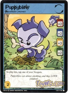 Neopets Trading Card Game Battle for Meridell Common Single Card #131 Puppyblew