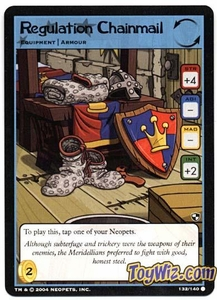 Neopets Trading Card Game Battle for Meridell Common Single Card #132 Regulation Chainmail