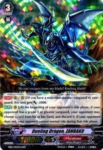 Cardfight Vanguard ENGLISH Comic Style Vol.1 Single Card RRR Rare EB01-002EN Dueling Dragon, ZANBAKU