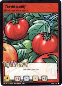 Neopets Trading Card Game Battle for Meridell Common Single Card #139 Tomatoes