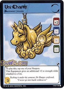 Neopets Trading Card Game Battle for Meridell Common Single Card #140 Uni Charm