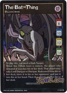 Neopets Trading Card Game Battle for Meridell Holofoil Rare Single Card #1 The Bat-Thing