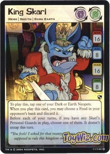 Neopets Trading Card Game Battle for Meridell Holofoil Rare Single Card #11 King Skarl