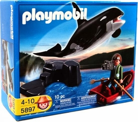 Playmobil Harbor Set #5897 Whale and Fisherman