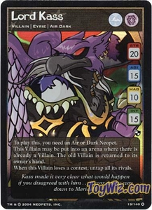Neopets Trading Card Game Battle for Meridell Holofoil Rare Single Card #15 Lord Kass