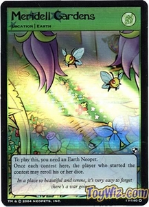 Neopets Trading Card Game Battle for Meridell Holofoil Rare Single Card #17 Meridell Gardens