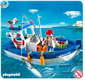 Playmobil Harbor Set #5131 Fisherman with Boat
