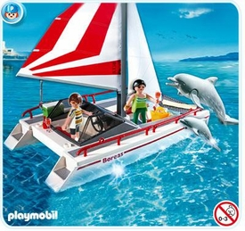 Playmobil Harbor Set #5130 Catamaran with Dolphins