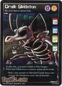 Neopets Trading Card Game Battle for Meridell Rare Single Card #41 Draik Skeleton