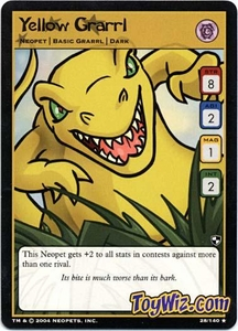 Neopets Trading Card Game Battle for Meridell Rare Single Card #28 Yellow Grarrl