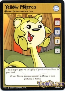 Neopets Trading Card Game Battle for Meridell Rare Single Card #29 Yellow Meerca