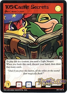 Neopets Trading Card Game Battle for Meridell Rare Single Card #30 105 Castle Secrets