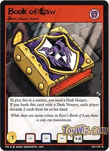 Neopets Trading Card Game Battle for Meridell Rare Single Card #34 Book of Law