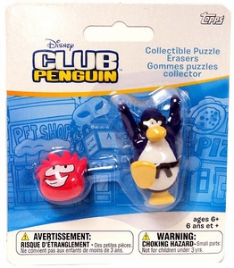 Disney Club Penguin Eraser Dark Blue Penguin & Random Puffle