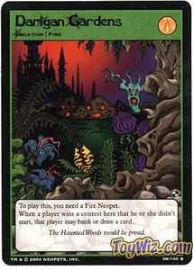 Neopets Trading Card Game Battle for Meridell Rare Single Card #36 Darigan Gardens