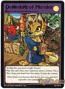 Neopets Trading Card Game Battle for Meridell Rare Single Card #38 Defenders of Meridell