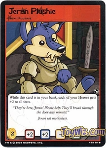 Neopets Trading Card Game Battle for Meridell Rare Single Card #47 Jeran Plushie