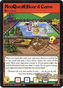 Neopets Trading Card Game Battle for Meridell Rare Single Card #49 NeoQuest Board Game