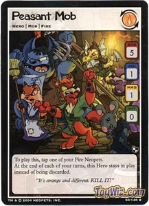 Neopets Trading Card Game Battle for Meridell Rare Single Card #50 Peasant Mob
