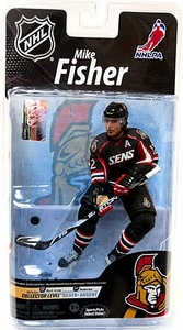 McFarlane Toys NHL Sports Picks Series 26 Action Figure Mike Fisher (Ottawa Senators) Black Jersey Silver Collector Level Chase Only 1,000 Made!