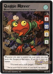 Neopets Trading Card Game Battle for Meridell Rare Single Card #52 Quiggle Runner