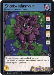 Neopets Trading Card Game Battle for Meridell Rare Single Card #53 Shadow Armour