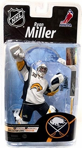 McFarlane Toys NHL Sports Picks Series 26 Action Figure Ryan Miller (Buffalo Sabres) White Jersey Gold Collector Level Chase Only 500 Made!