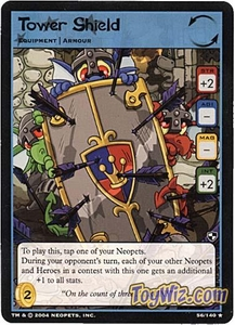 Neopets Trading Card Game Battle for Meridell Rare Single Card #56 Tower Shield
