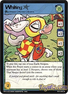 Neopets Trading Card Game Battle for Meridell Rare Single Card #57 Whinny