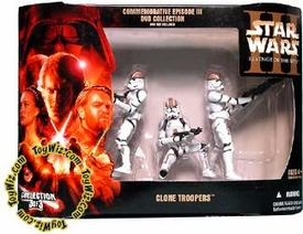 Star Wars E3 Revenge of the Sith Action Figure Exclusive Brown Stripe Clone Trooper 3-Pack