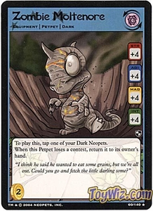 Neopets Trading Card Game Battle for Meridell Rare Single Card #60 Zombie Moltenore