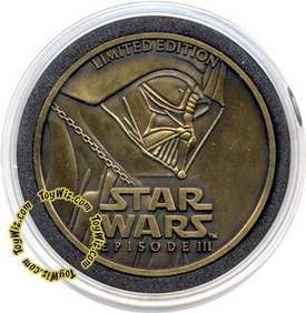 Star Wars E3 Revenge of the Sith Limited Edition Brass Collectors Coin