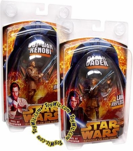 Star Wars E3 Revenge of the Sith Action Figure Duel at Mustafar Lava Reflection Set