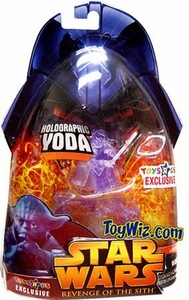 Star Wars E3 Revenge of the Sith Action Figure Exclusive Holographic Yoda