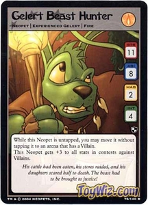 Neopets Trading Card Game Battle for Meridell Uncommon Single Card #75 Gelert Beast Hunter