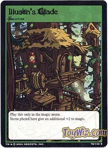 Neopets Trading Card Game Battle for Meridell Uncommon Single Card #78 Illusen's Glade
