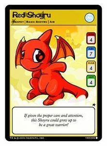 Neopets Trading Card Game Common Single Card #169 Red Shoyru