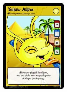 Neopets Trading Card Game Common Single Card #171 Yellow Aisha