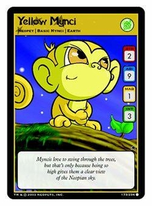 Neopets Trading Card Game Common Single Card #173 Yellow Mynci