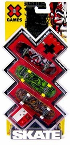 X Games Extreme Sports Skateboard 3-Pack Movie Monsters [Dracula, Frankenstein & Wolfman]