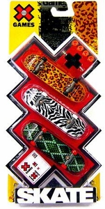 X Games Extreme Sports Skateboard 3-Pack Animal Print