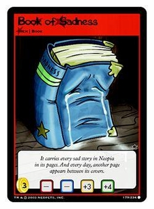 Neopets Trading Card Game Common Single Card #179 Book of Sadness