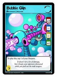 Neopets Trading Card Game Common Single Card #182 Bubble Gun