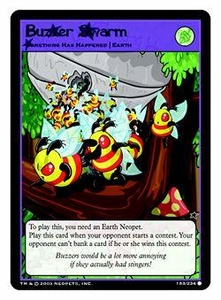 Neopets Trading Card Game Common Single Card #183 Buzzer Swarm