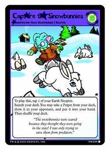 Neopets Trading Card Game Common Single Card #184 Capture the Snowbunnies