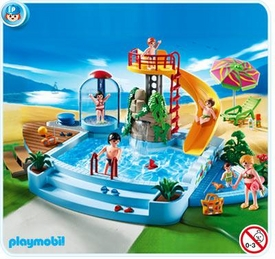 Playmobil Vacation & Leisure Set #4858 Pool with Water Slide