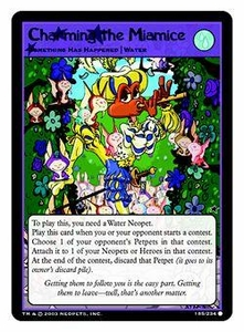 Neopets Trading Card Game Common Single Card #185 Charming the Miamice